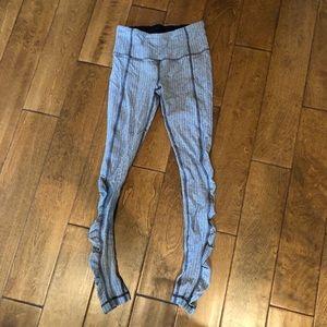 Lululemon gray rouched long leggings